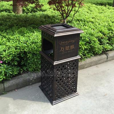 铸铝垃圾桶a3811_垃圾桶休闲椅生产厂家-深圳佳地美